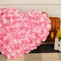 pink Heart Shape Fashion pillow chair pillows Hold Pillow Roses Chair Cushion Toy Hold Couch Pillows stuffed plush 40cm