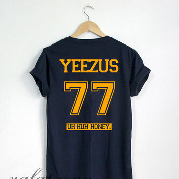 Yeezus Shirt Yeezus 77 Tshirt Navy Color Unisex Size - RT64
