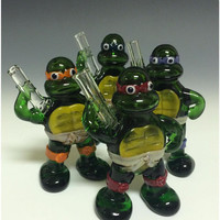 Ninja Turtle Glass Tobacco Pipe - H*350
