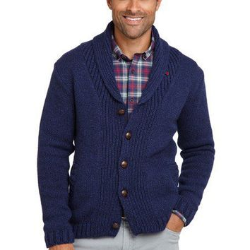 Oliver Spencer Navy Shawl Collar Cardigan