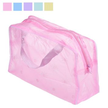 Portable Makeup Cosmetic Toiletry Travel Wash Toothbrush Pouch Organizer Bag