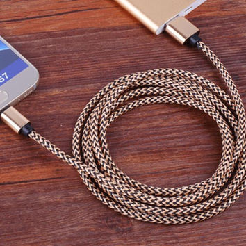 Lightning Cable Nylon Braided Extra Long  4 7 10ft USB Syncing and Charging Cable Cord Charger for Apple iPhone se/7/7 plus/6 plus/6s plus/6/6s/5/5S/5C, iPad 4, iPad Air 1/2, iPad Mini, iPod