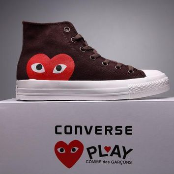 spbest Converse Comme Des Garcons Suede Chuck Taylor All Star Brown/White High Cut