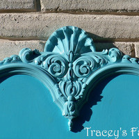 French Provincial Full Bed Aqua by TraceysFancy on Etsy