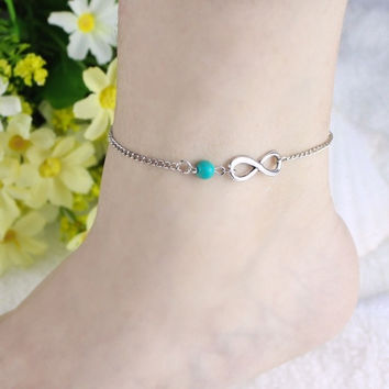 Bohemian Bead infinity Charm Chain Anklet Bracelet Beach Sandal Barefoot Jewelry = 1928405124