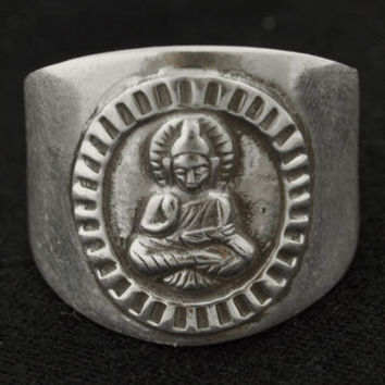 Sterling Silver Zen Crest Ring -- Mexicali Blues