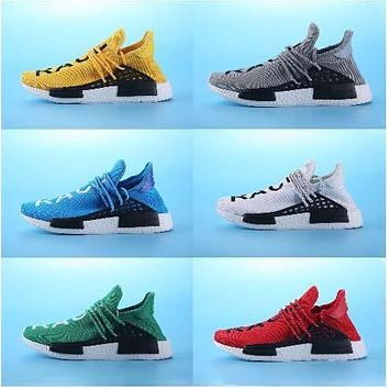 2017 top Quality Pharrell Williams NMD HUMAN RACE Shoes In Yellow white red blue green black grey eur 36-45