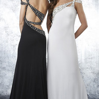 Shimmer One Shoulder Long Dress
