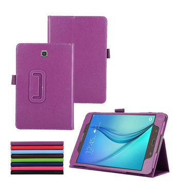 T355 T350 Cover For Samsung Galaxy Tab A 8.0 PU Leather Protective Case