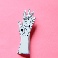 Palm Reader Hand Brooch