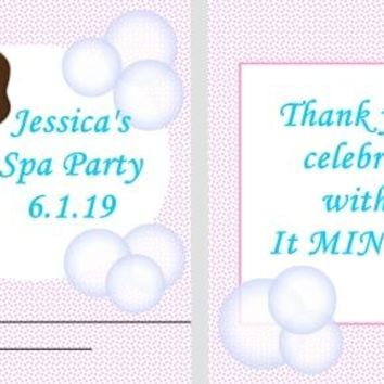 20 Spa Birthday Party Mint Favors