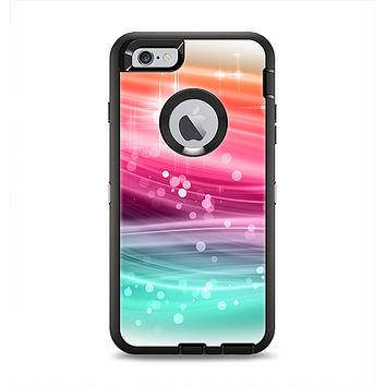 The Vibrant Multicolored Abstract Swirls Apple iPhone 6 Plus Otterbox Defender Case Skin Set