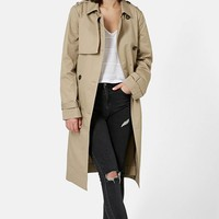 Women's Topshop Longline Double Breasted Trench Coat