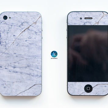 White Old Marble iPhone Skin
