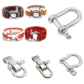 2 Pc/set 4 types Alloy Outdoor Sports Travel Kits Survival Paracord Bracelet Accessories