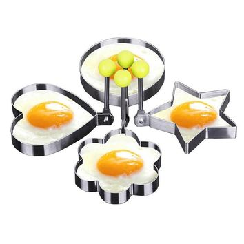 New Qualified Stainless Steel Fried Egg Shaper Pancake Mould Mold Kitchen Cooking Tools