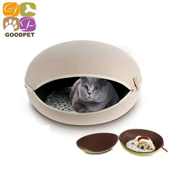 Egg Shaped Luxury Pet Bed For Small Medium Dogs Mats Dog Kennel Cat EVA Felt Cloth Dog House Male Female Pet Sofa Nest 151103-1