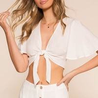 Perfectly Put Crop Top - Ivory
