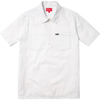 Supreme: Half Zip Work Shirt - White