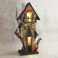 "Halloween LED Light-Up 25"" Haunted House"