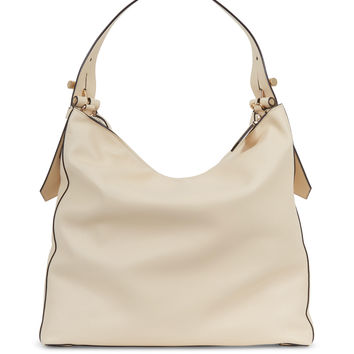 Krush Cream Leather Hobo Bag
