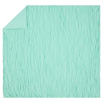 RUCHED QUILT, TWIN, POOL