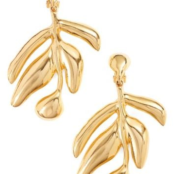 Oscar de la Renta Small Graphic Botanic Earrings | Nordstrom