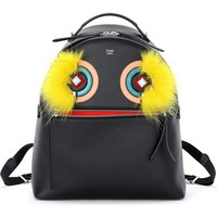 Fendi 'Monster' Leather Backpack with Genuine Fox Fur & Snakeskin Trim | Nordstrom