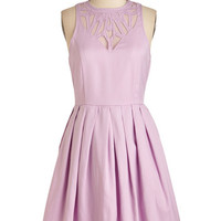 Pastel Mid-length Sleeveless Fit & Flare Presh Your Luck Dress
