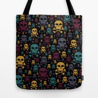 Skulls Tote Bag by Alice Gosling
