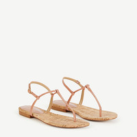 Matilda Patent Leather Thong Sandals   Ann Taylor