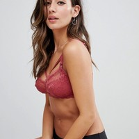 New Look Maternity Lace And Strapping Bralet at asos.com