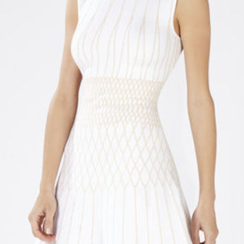 Wilma Jacquard A-Line Dress - White