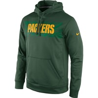Nike Green Bay Packers KO Speed Logo Therma-FIT Performance Hoodie - Men