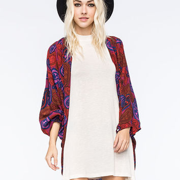 Volcom 21St Century Womens Kimono Red One Size For Women 25748930001