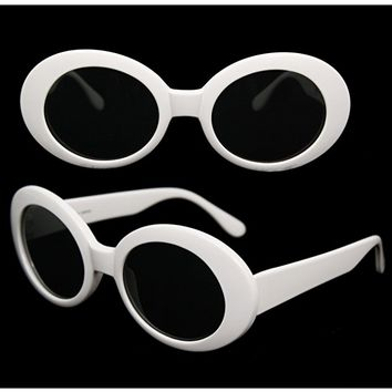 MOD Round Costume Sunglasses (White)