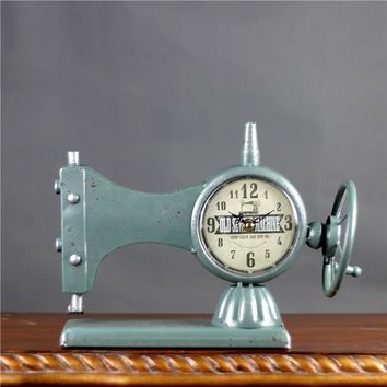 Sewing Machine Vintage Desk Clock