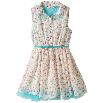 Knitworks Chiffon Lace Dress - Girls