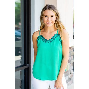 Fix Your Halo Scallop Tank - Kelly Green
