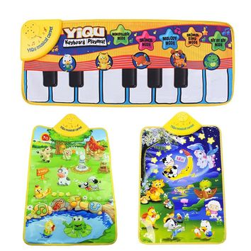 Music Mat Children Game blanket Colour Kids Baby Animal Piano Musical Touch Playmat Singing Gym Carpet Gift Play 4 Drop
