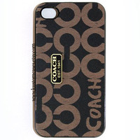iPhone 4 4s Coach Inspired Hard iPhone Case Available in Black or White