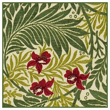 Green Larkspur detail 2 by William Morris Design Counted Cross Stitch or Counted Needlepoint Pattern