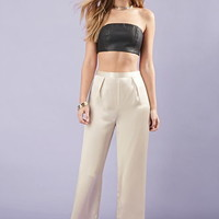 Faux Leather Tube Top
