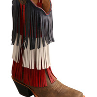 Twisted X Women's VFW Red White & Blue Fringe Western Boots
