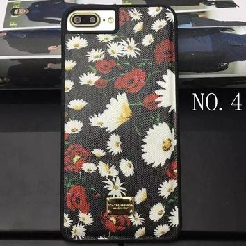 Daisy Rose iphone 7plus rose flower lily leather case