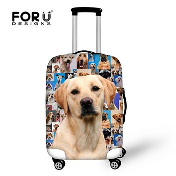 FORUDESIGNS 2018 Brand Travel Luggage Protective Covers Cute 3D Dog Animal Elastic Waterpoof Suitcase Cover For 18-30 Inch Case