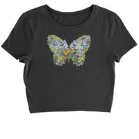 Butterflies Cropped T-Shirt