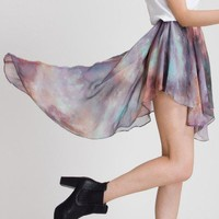 Galaxy Asymmetric Waterfall Chiffon Skirt - Chic+ - Retro, Indie and Unique Fashion