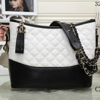 """""""Chanel"""" Women Fashion Multicolor Quilted Personality Wandering Bucket Bag Single Shoulder Messenger Bag"""
