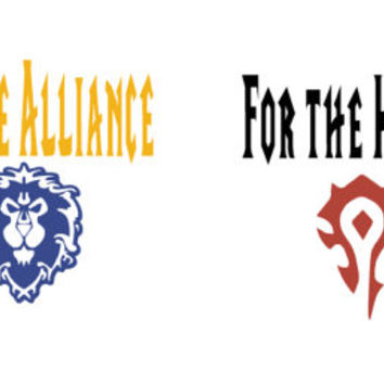 WoW Decal, Alliance Horde Vinyl Decal, Fan Art, World of WarCraft, Gamer Gift, Warcraft Yeti Decal, Car Faction Sticker, Geekery, Novelty